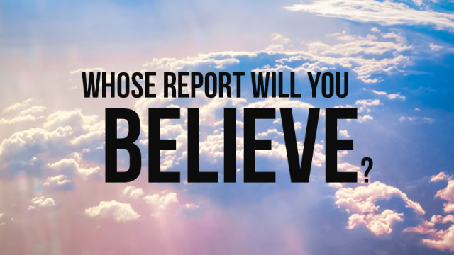 Image result for whose report will you believe